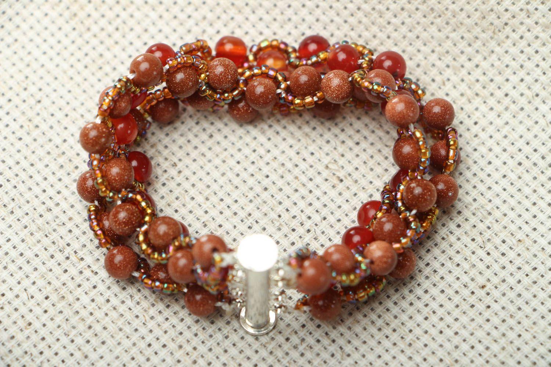 Homemade bracelet with aventurine and cornelian photo 3