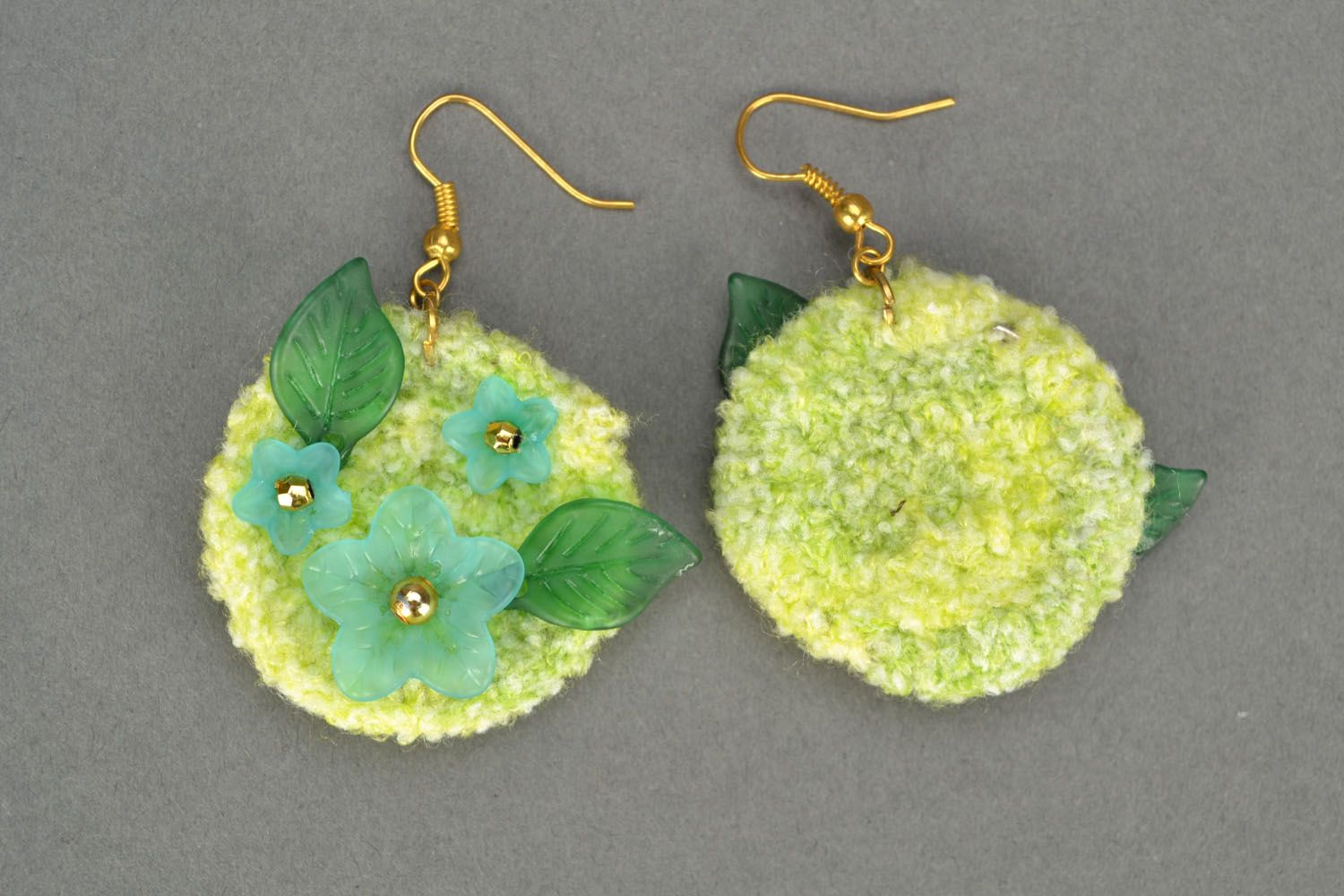 Crochet earrings Tenderness photo 4