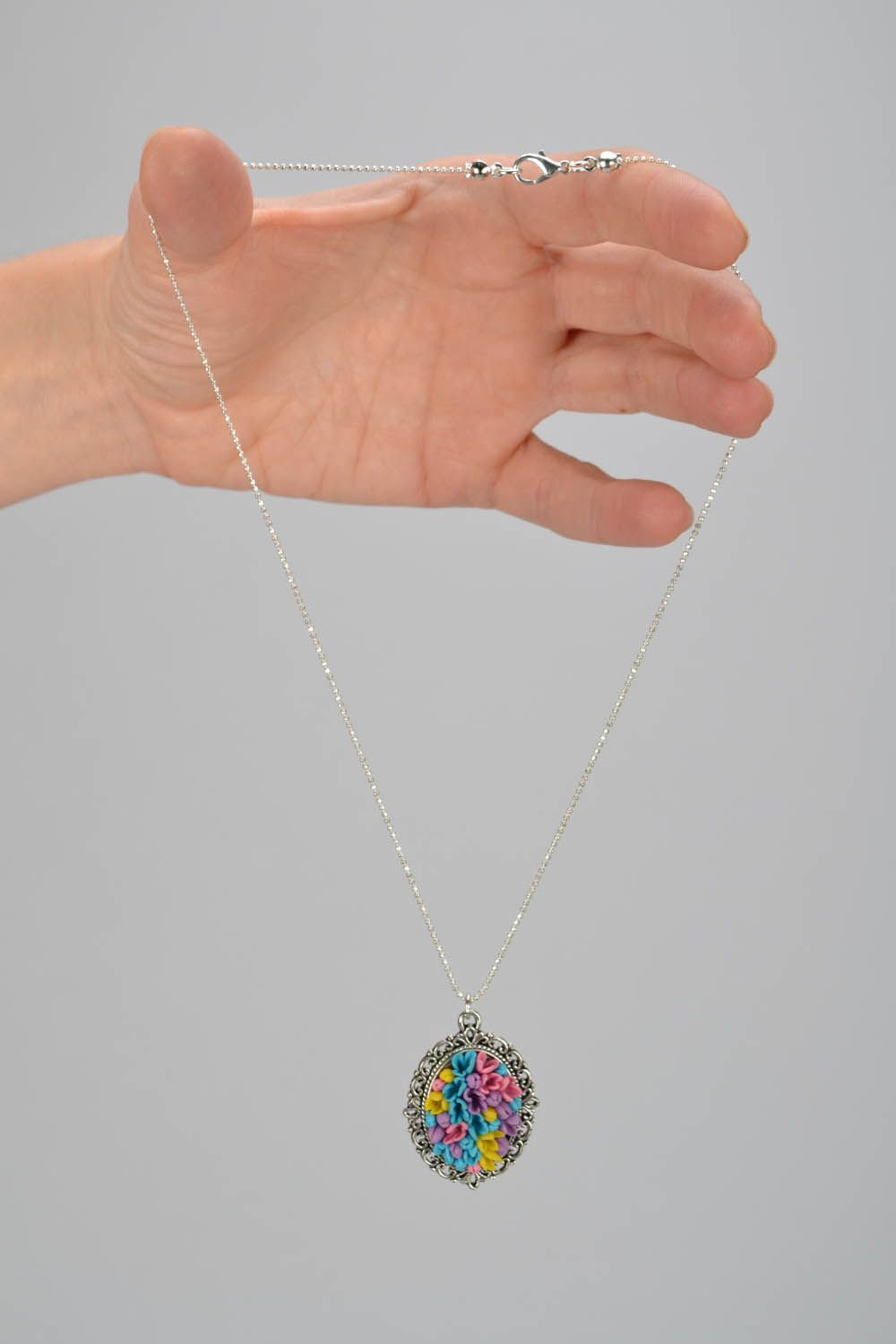 Pendant with long chain Field Bouquet photo 2