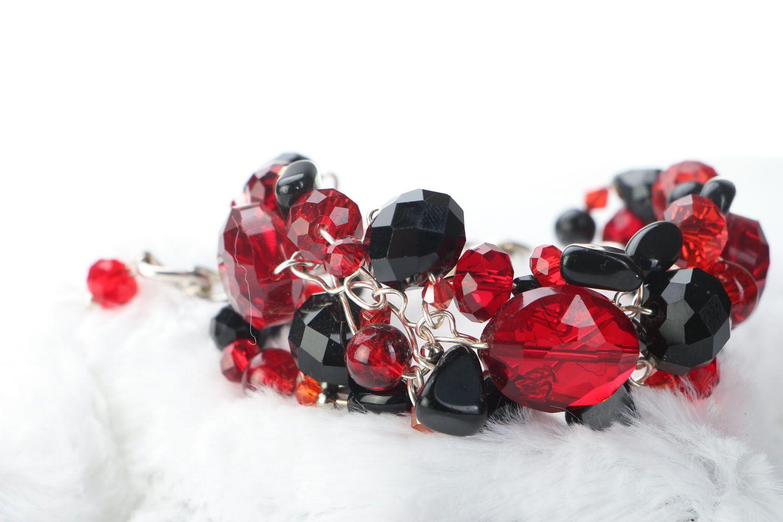 Breites Armband aus böhmischen Kristallen und Agat  foto 2