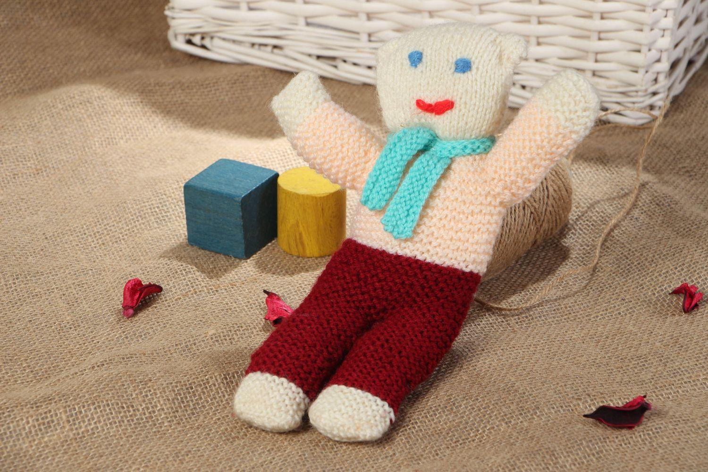 Вязаные игрушки спицами для детей своими руками 47