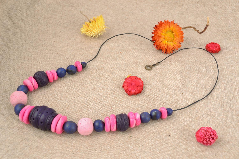 Bunte Halskette aus Polymerton foto 1