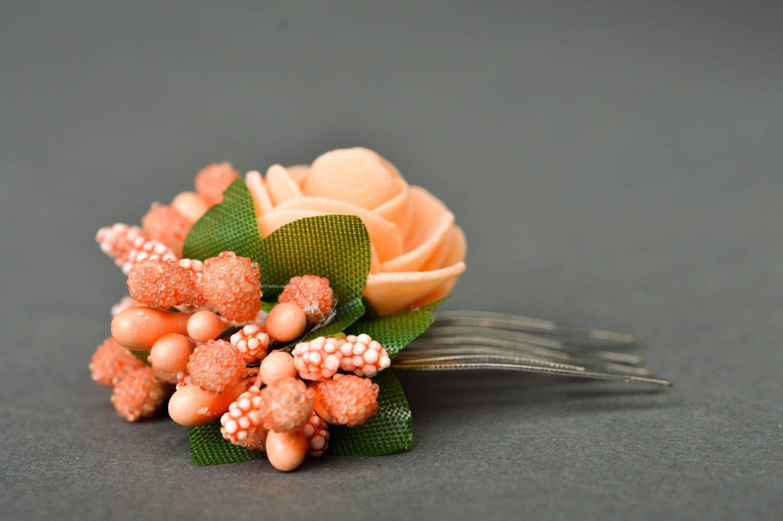 Handmade fashion hair comb flowers for hair floral hair clip kids accessories photo 5