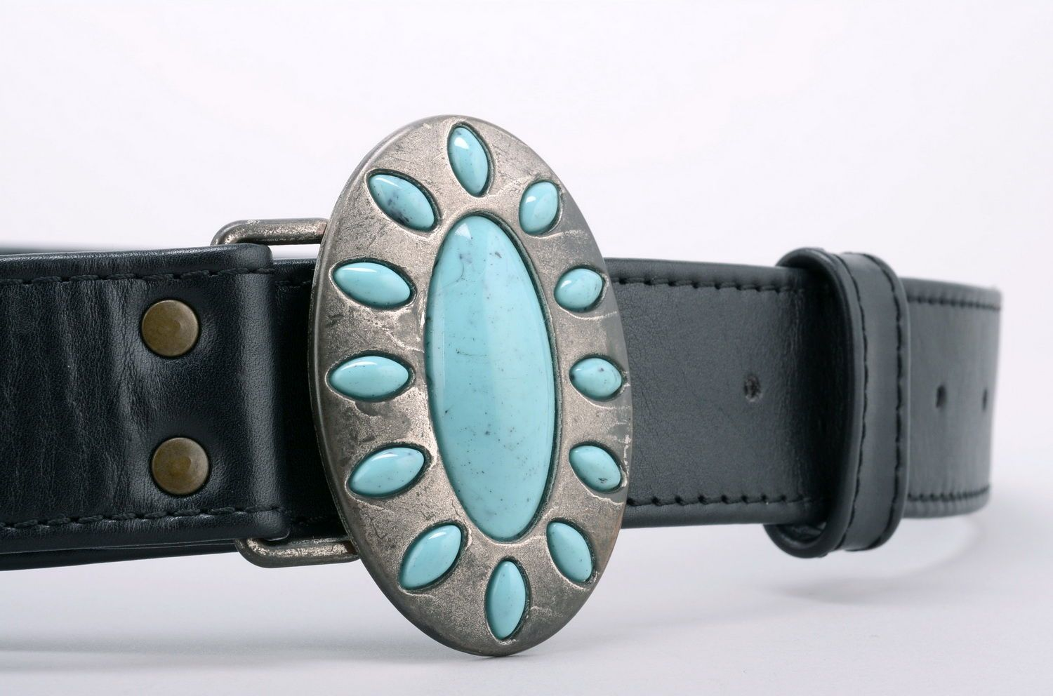 Woman's belt Turquoise photo 1