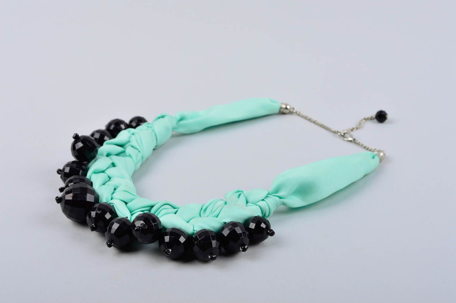 teal necklace zoky click to here textile sorrelli double layered enlarge doky