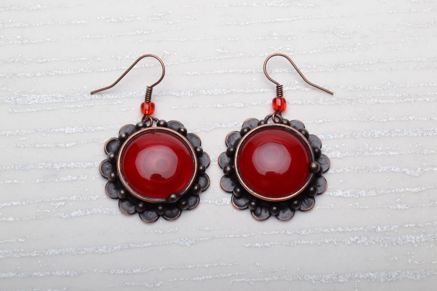 Stained glass earrings photo 1