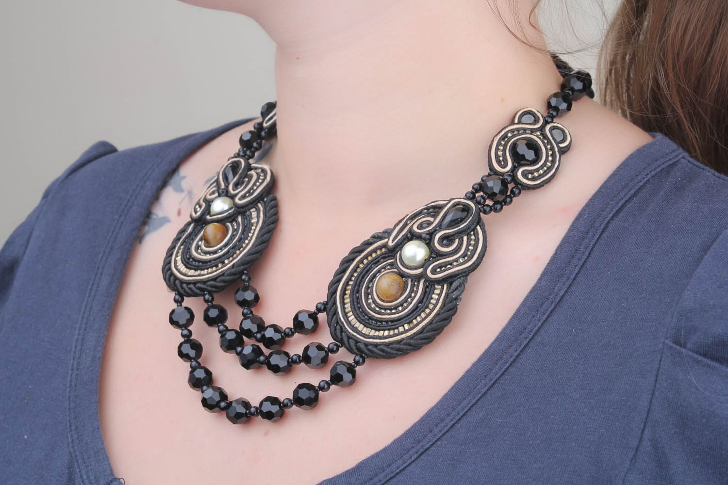 Soutache necklace  photo 1