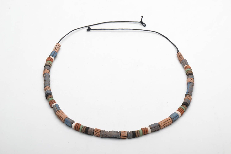 Handmade ceramic necklace photo 4