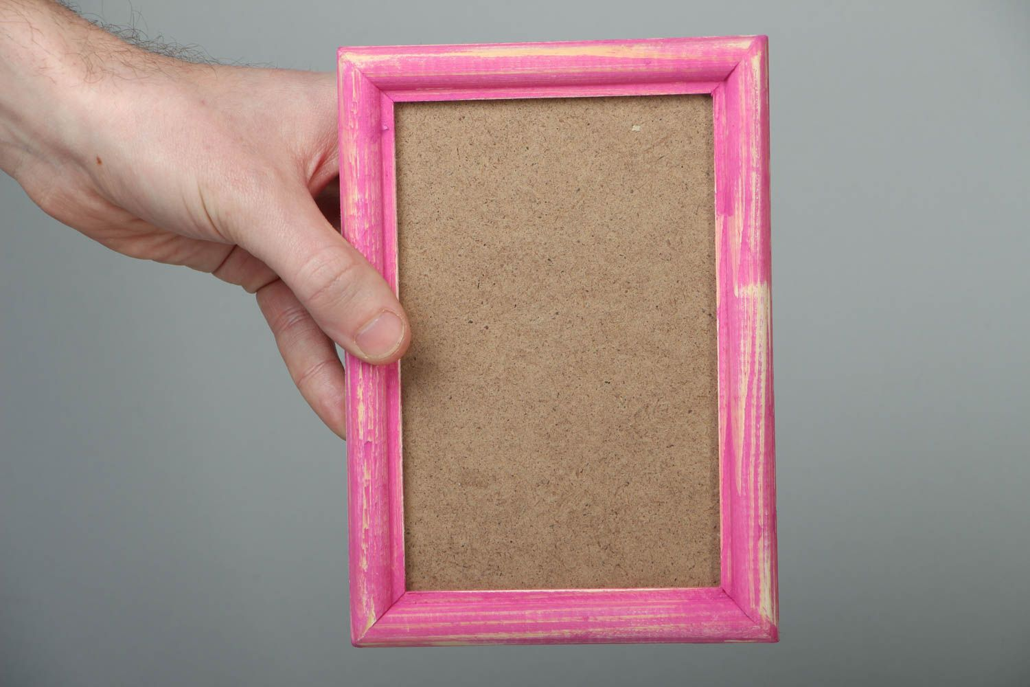 Pink wooden photo frame photo 4