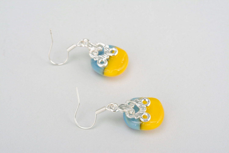 drop earrings Fused glass earrings