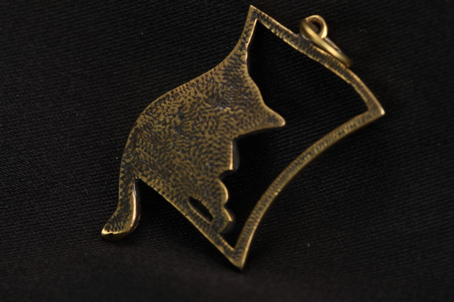 Bronze pendant Cat photo 2