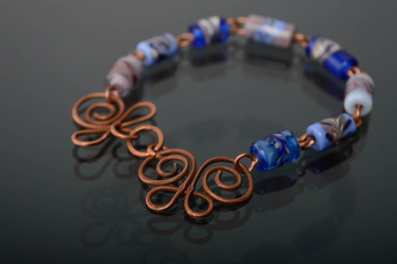 Schönes Armband aus Glas in Lampwork Technik foto 1