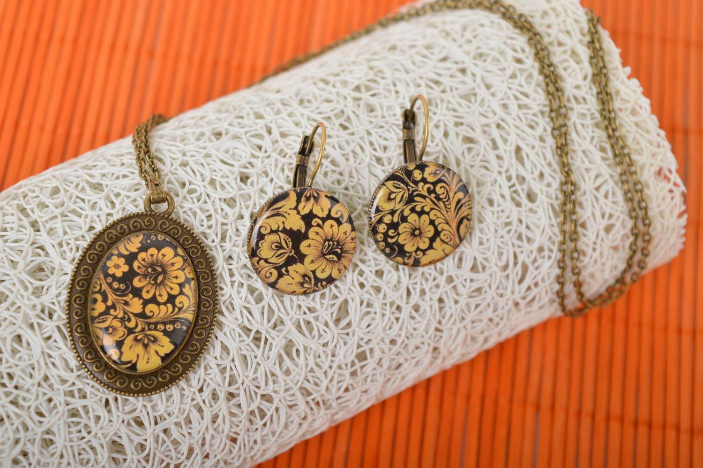 Handmade stylish jewelry set elite designer accessories elegant feminine present photo 1