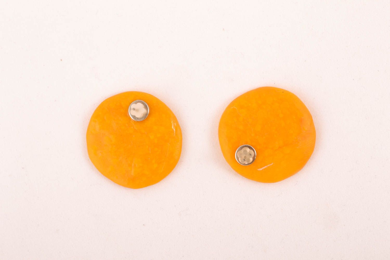 Polymer clay stud earrings photo 1