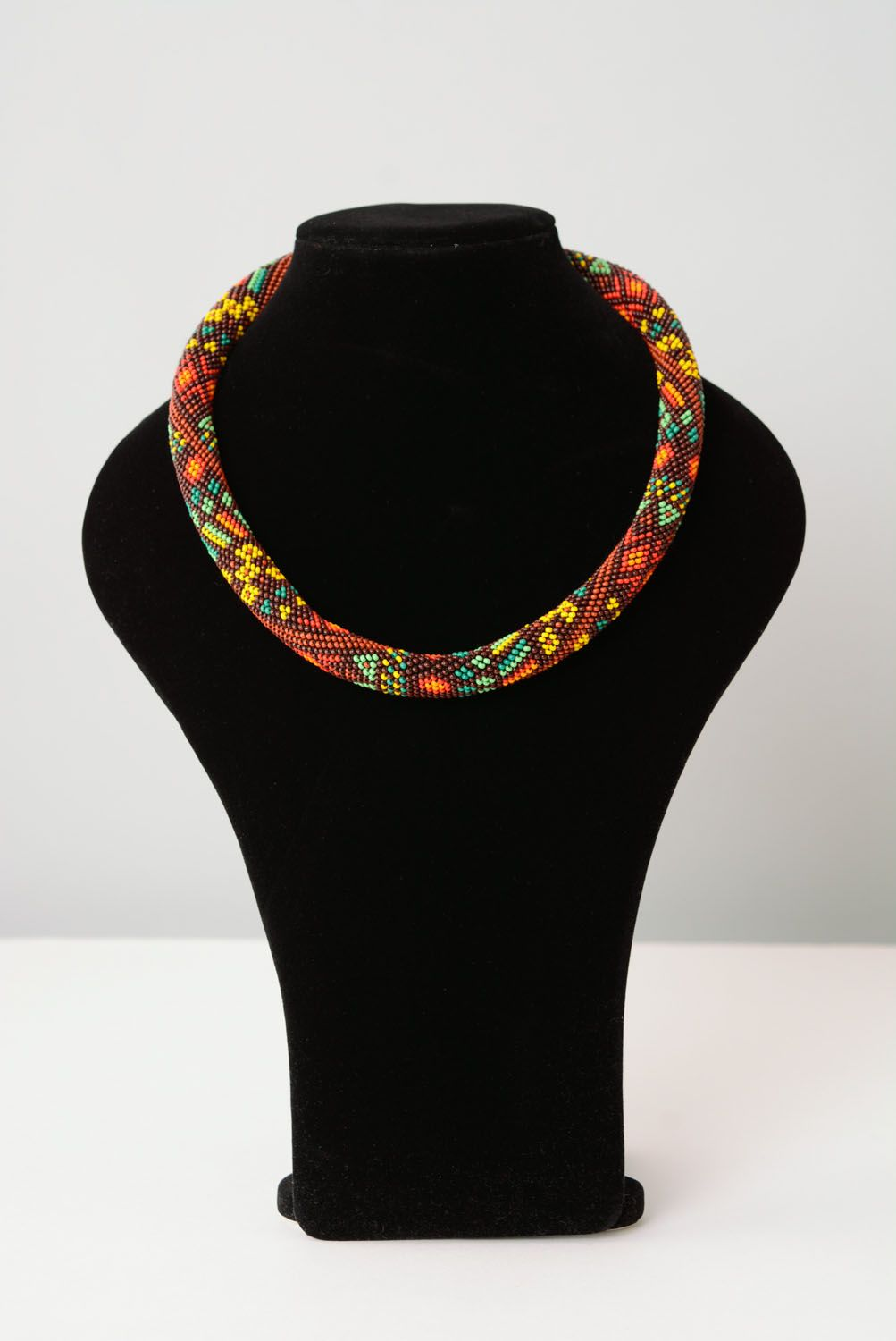 Beaded cord necklace photo 1