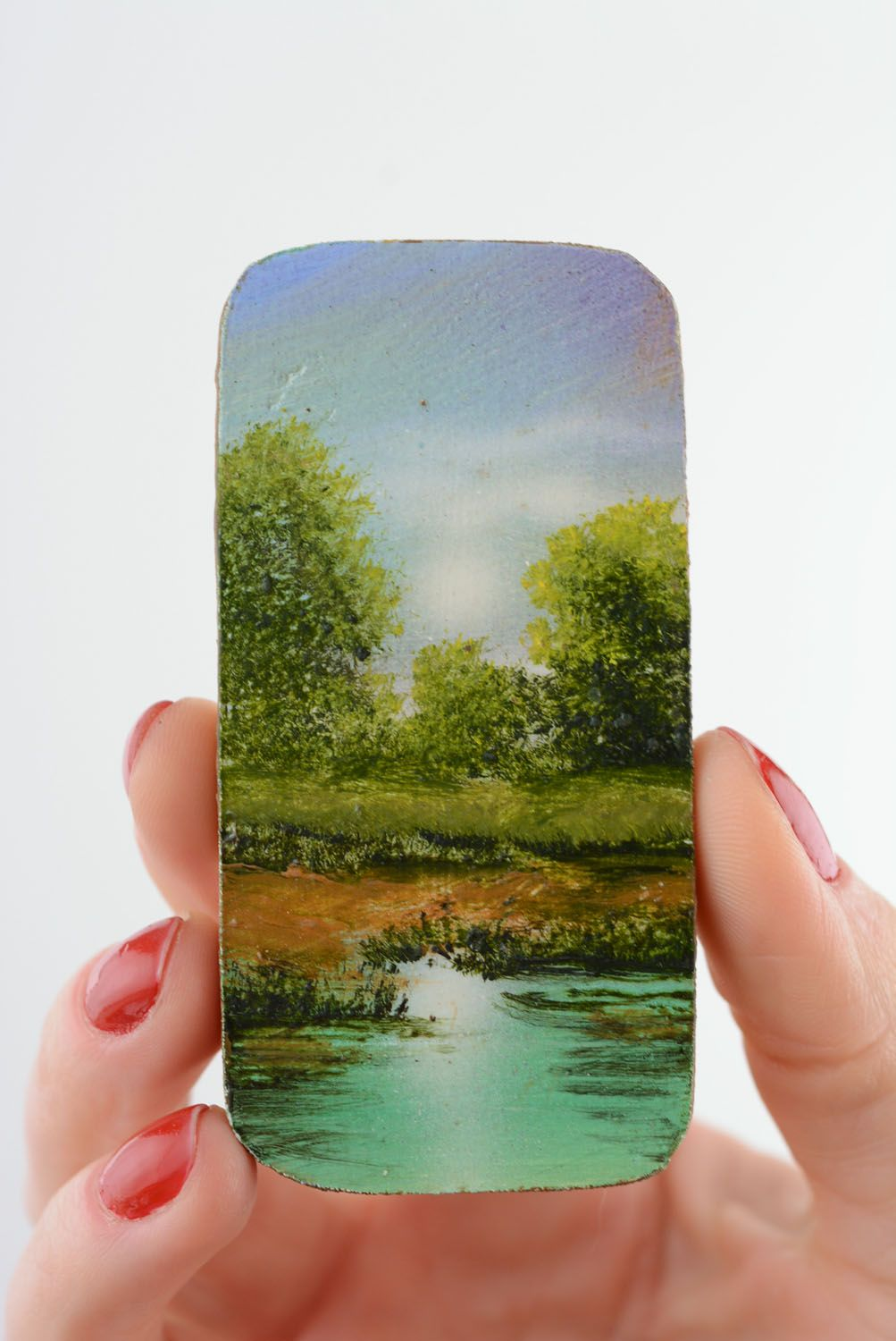 Fridge magnet with painting Noon photo 3