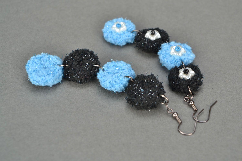 Handmade crocheted earrings photo 5