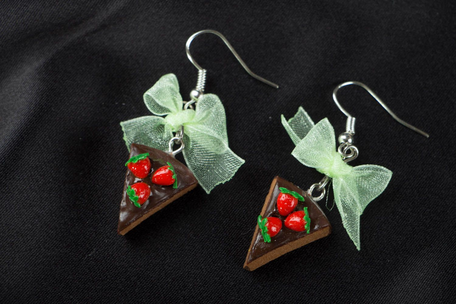 Polymer clay earrings Candies photo 1