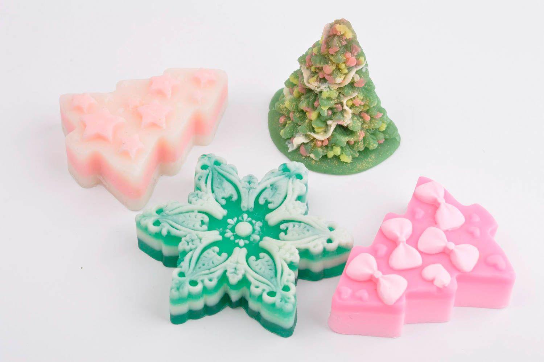 Handmade soap natural cosmetics christmas tree soap Christmas soap set  photo 2