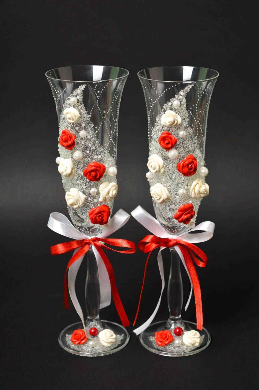 madeheart copas de novios con rosas artesanales detalles de boda copas decoradas para boda. Black Bedroom Furniture Sets. Home Design Ideas
