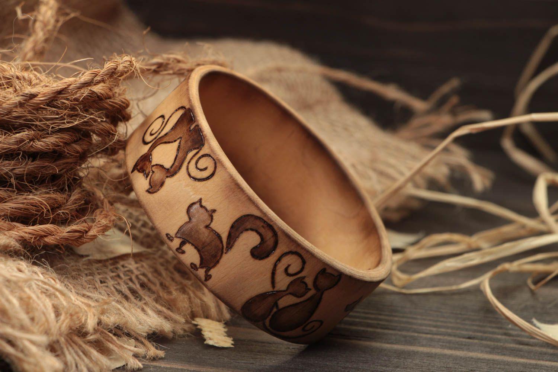 Stilvolles handmade Frauen Accessoire Schmuck Armband Mode Schmuck aus Holz foto 2