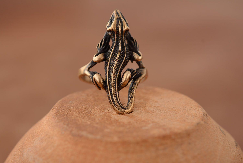 Бронзовое кольцо Саламандра фото 2