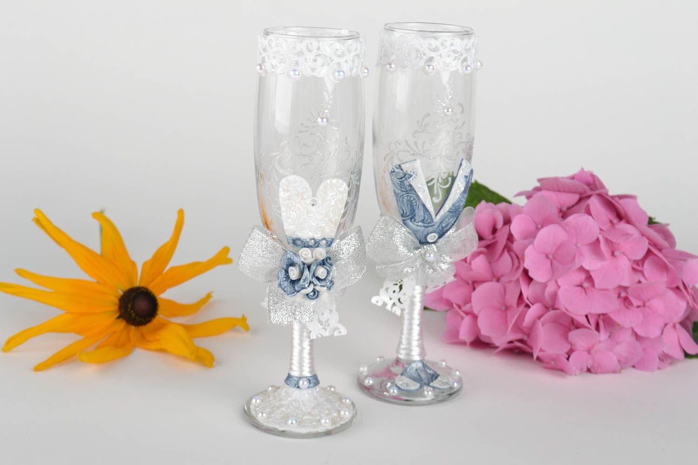 Madeheart copas decoradas para boda 2 piezas copas de for Copas decoradas a mano