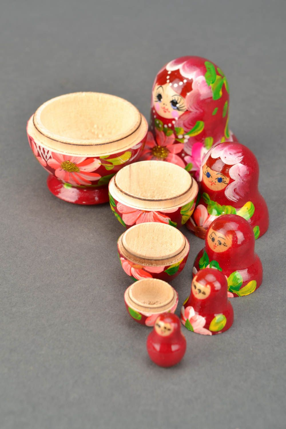 Painted wooden nesting doll photo 4