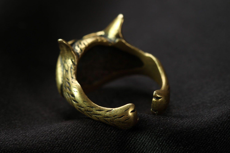 Bronze seal ring Cheshire Cat photo 2