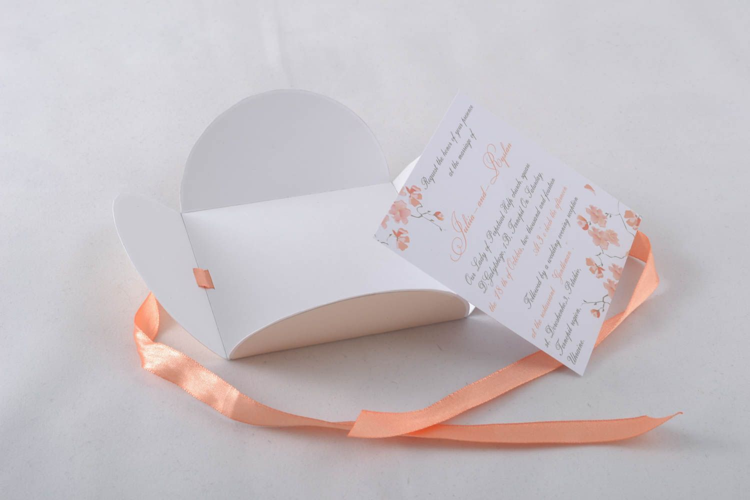 Handmade wedding invitation photo 3