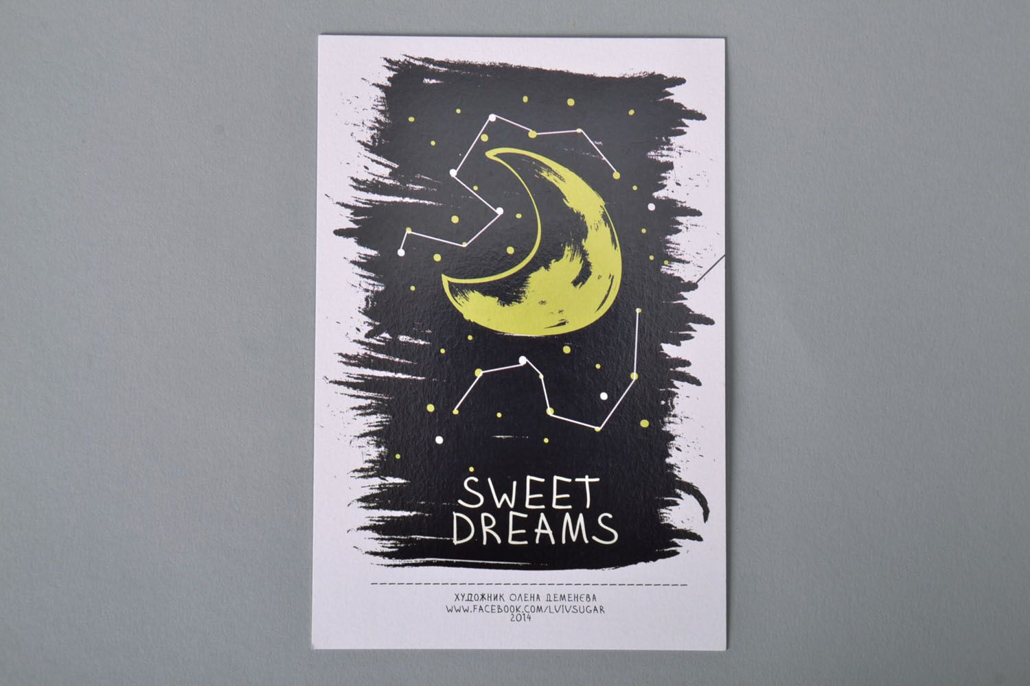 Post card with author's drawing Sweet Dreams photo 2