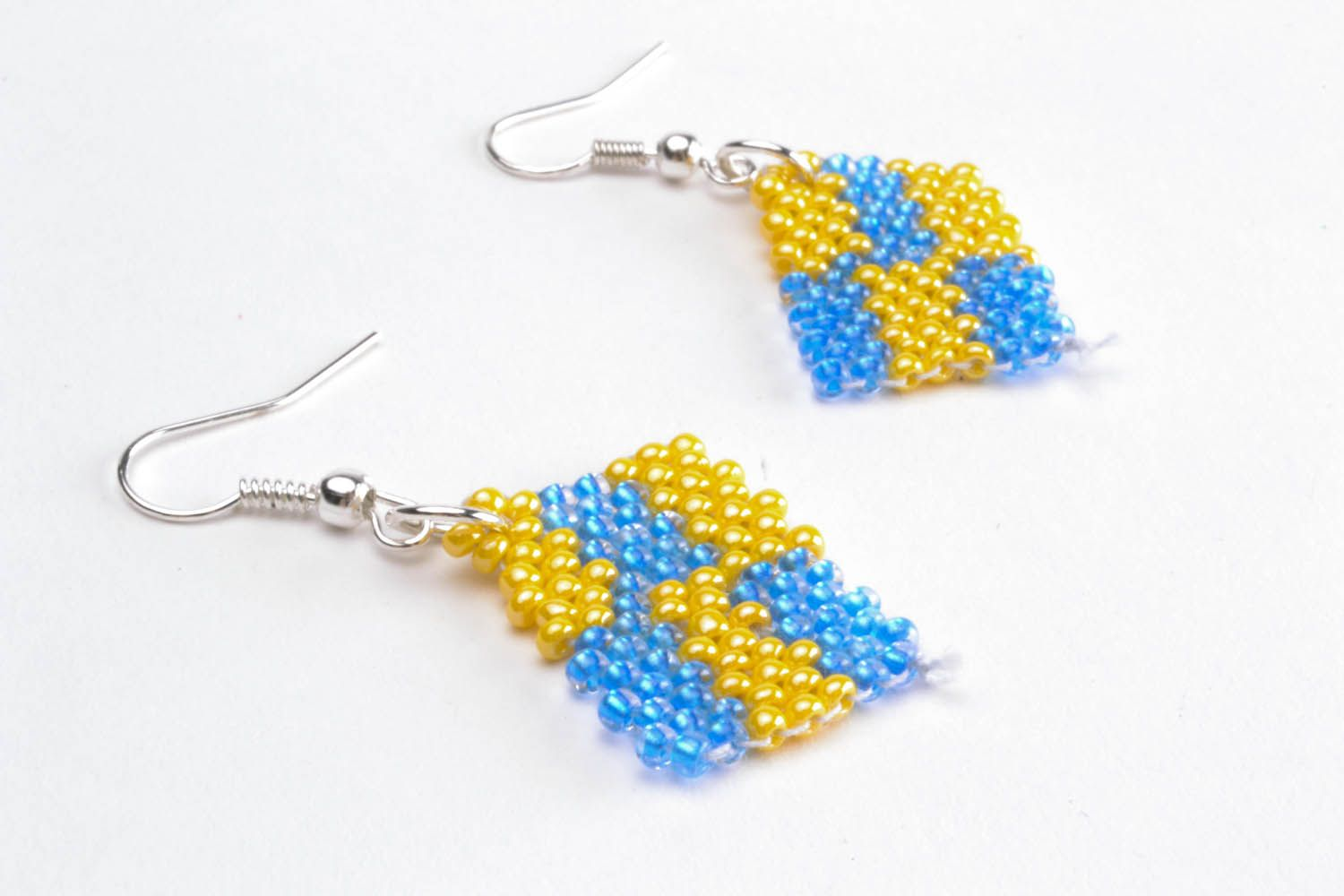 Earrings with polymer beads photo 4