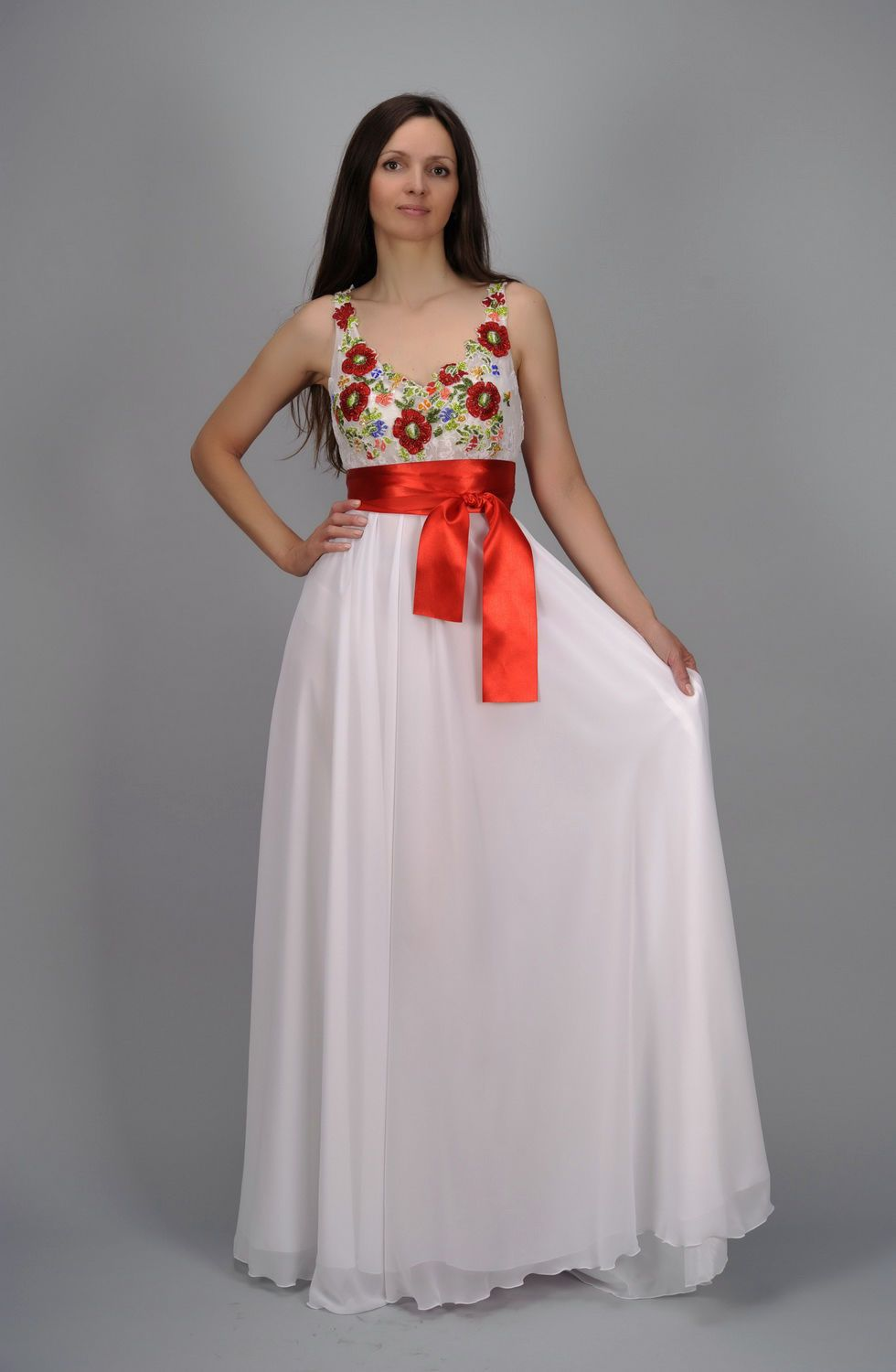 clothes Evening dress with beaded embroidery - MADEheart.com
