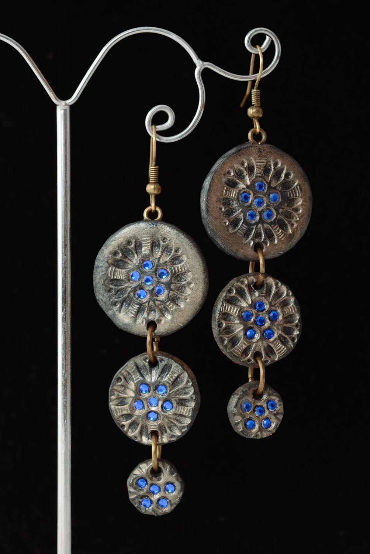 Fashionable polymer clay earrings photo 2