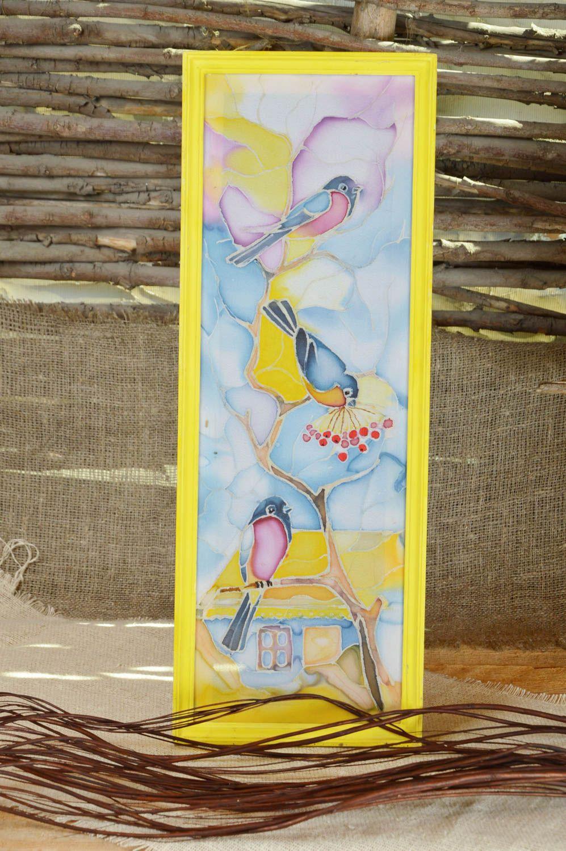 MADEHEART > Unusual modern handmade cold batik painting on fabric ...