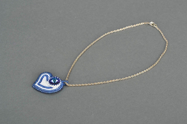 Handmade blue pendant photo 3