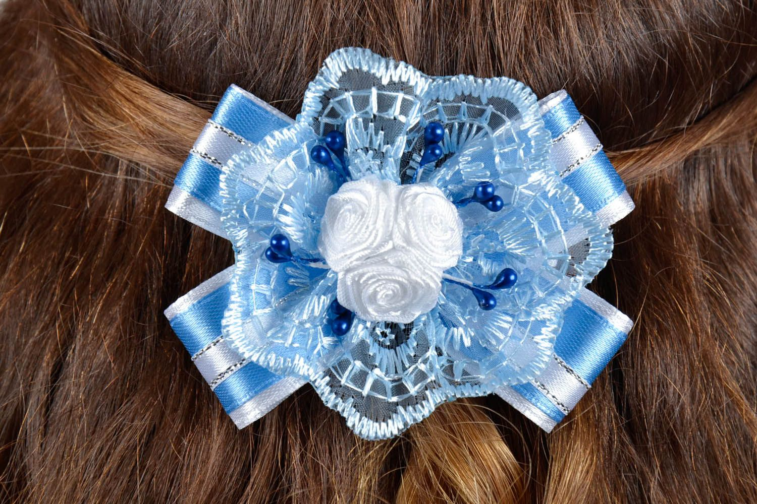 Hair clip with roses photo 5