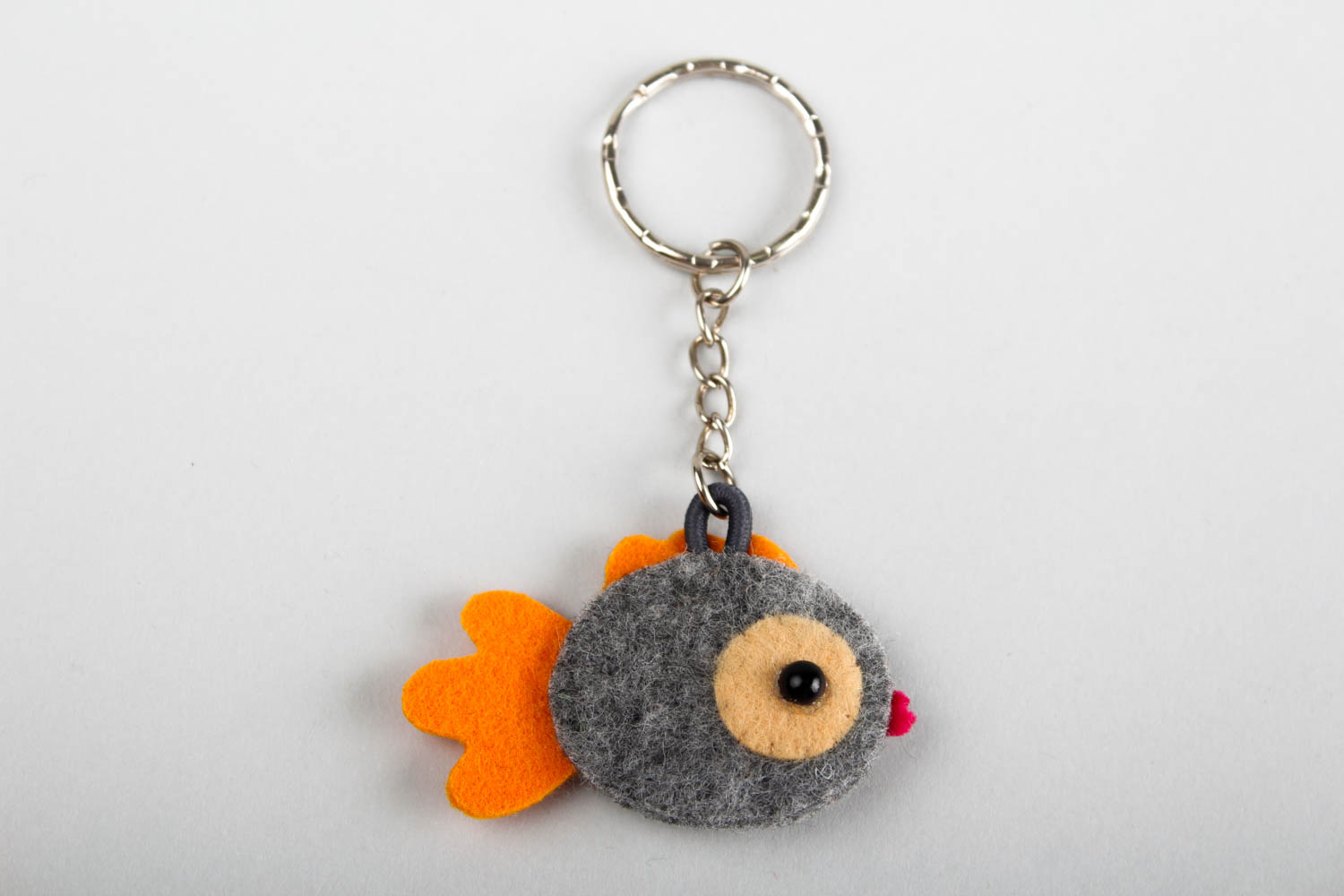Funny toys handmade woolen keychain felted toy key ideas present for kids photo 5