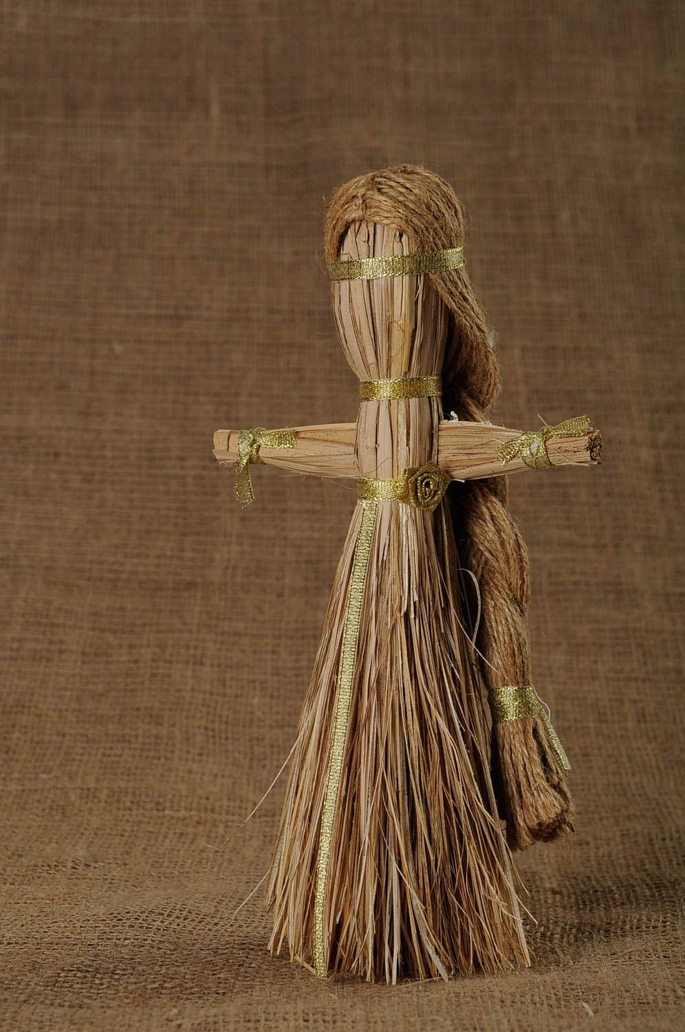 Amulet doll made of natural material photo 1