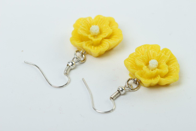 Madeheart Handmade Flower Earrings Bright Yellow Earrings Cute