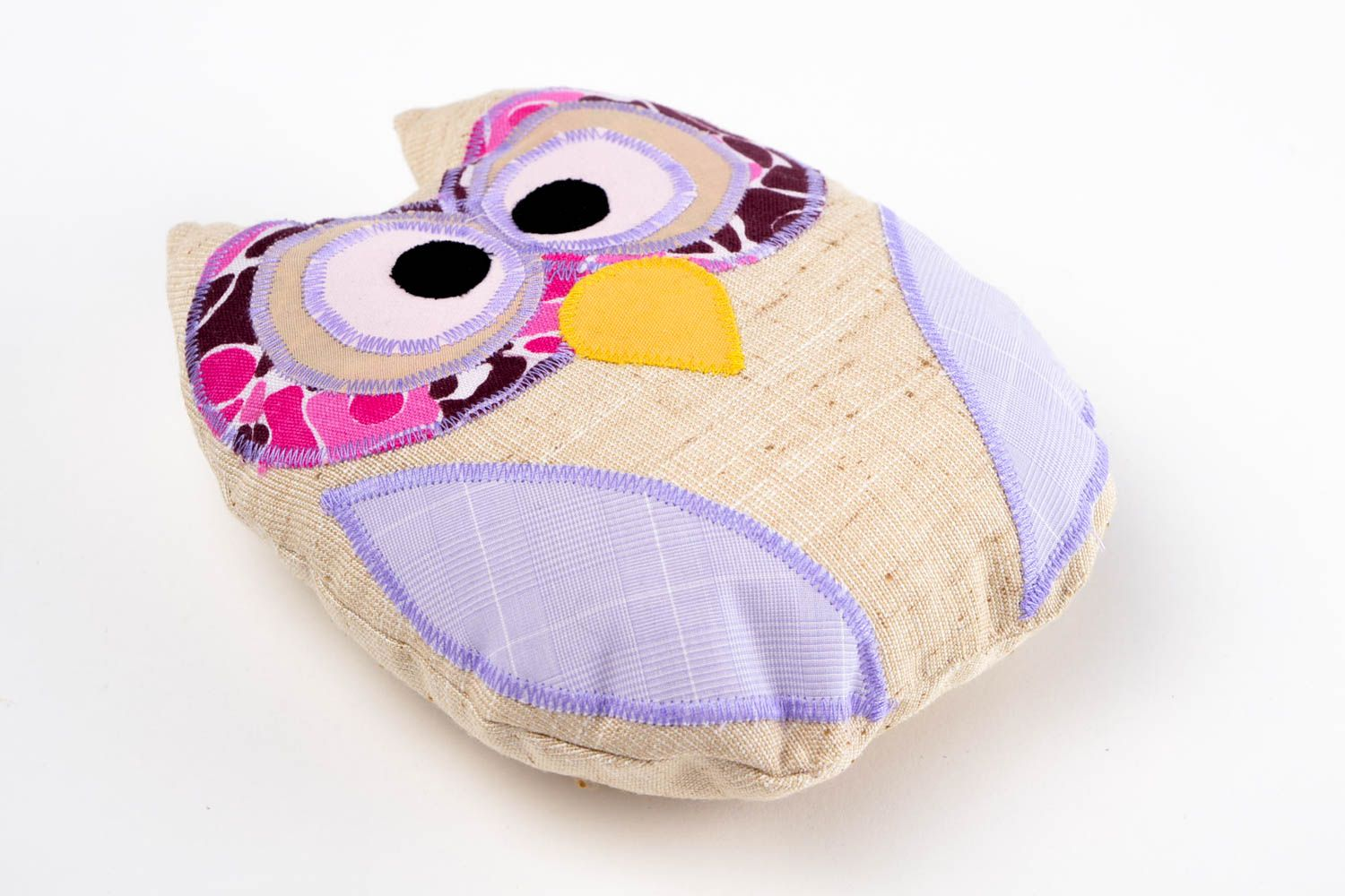 pillow toys Handmade bright colorful toy unusual cute textile toy stylish owl toy - MADEheart.com