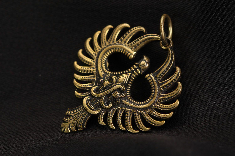 Bronze pendant Phoenix photo 1