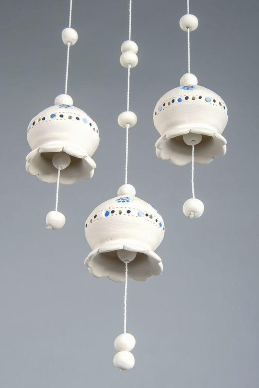 Ceramic bells on pendant photo 5