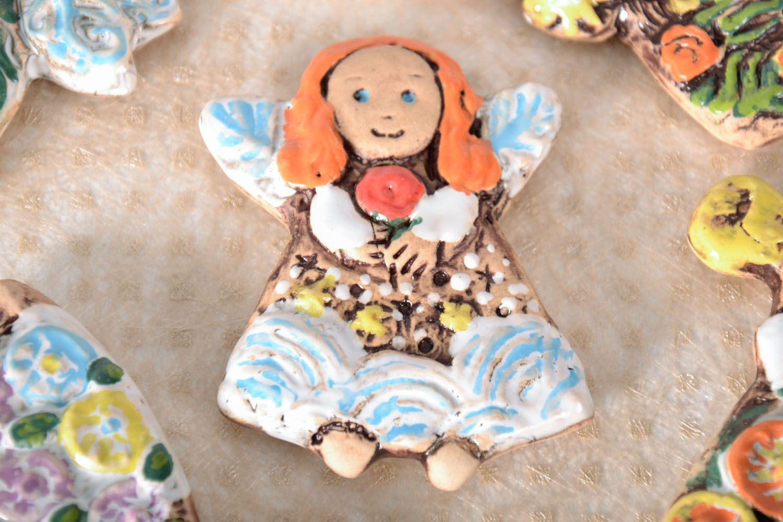 Ceramic fridge magnet Fairy photo 1