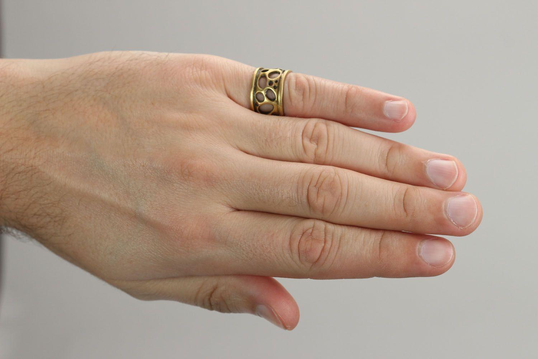 Бронзовое кольцо Сыр фото 4