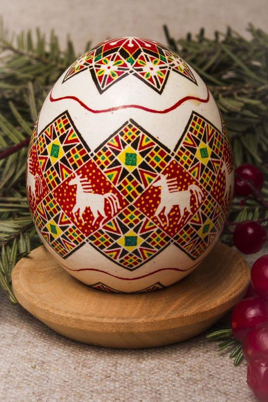 Decorative painted egg Sunset photo 2