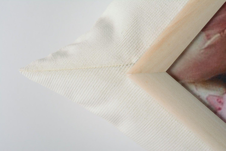 hangers and Coat Racks White handmade tray cushion made of velvet and acrylic fabric interior accessory - MADEheart.com