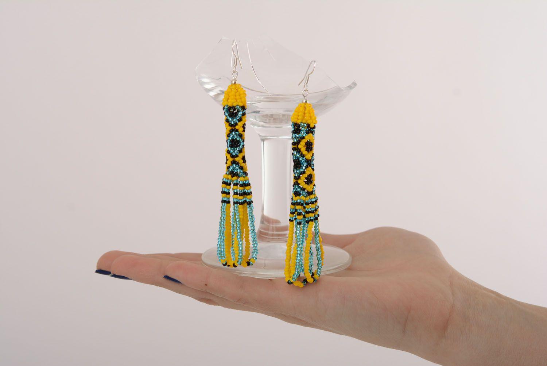 Ethnic beaded earrings photo 4