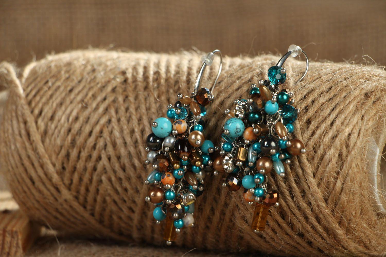 Natural stone earrings Sea Shore photo 3