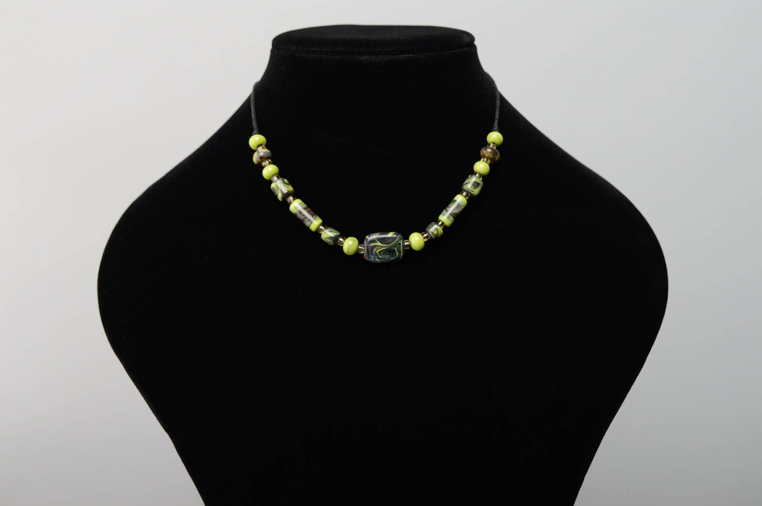 Lampwork glass necklace photo 3